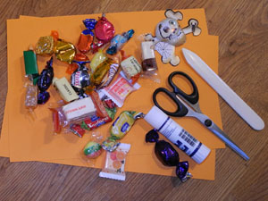 Material Halloween Sarg