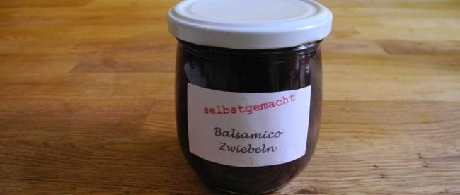 selbstgemachte Balsamico Zwiebeln