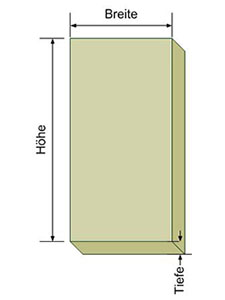 Die Größe des E-Readers/Tablets ermitteln