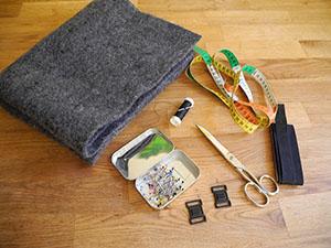 Material für die Laptoptasche aus Filz
