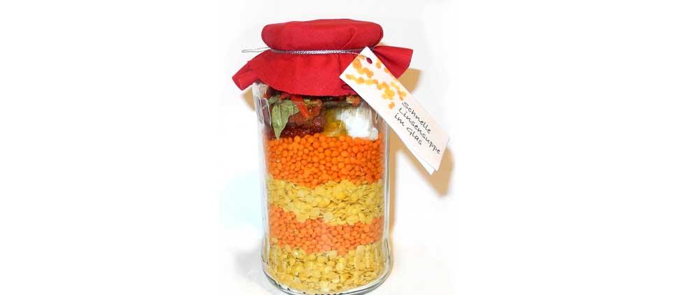 linsensuppe-im glas - Geschenke selbstgemacht