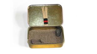 selbstgebastelter Mini Zen-Garten