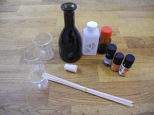 Abbildung des Materials für den Raumduft-Diffuser