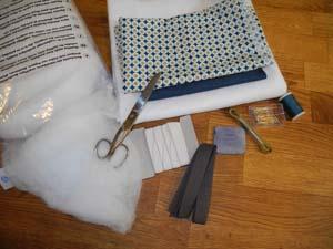 Material für die Schlafbrille und das Nackenstützkissen