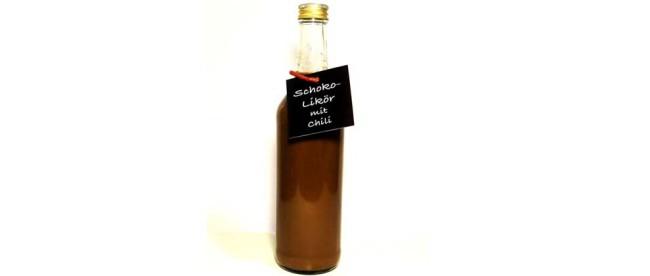 selbstgemachter Schoko-Chili Likör