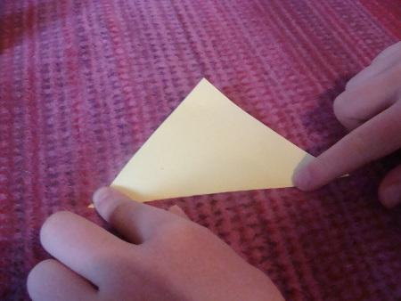 Papier-Stern Schritt 1